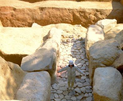 奈良で石室発見